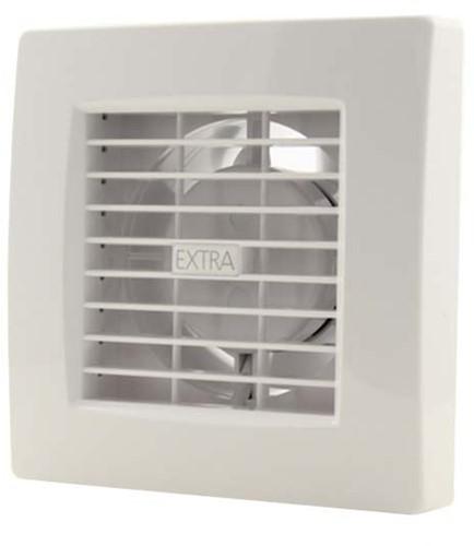 Badlüfter 100 mm Weiß mit Timer und Feuchtigkeitssensor - Luxus X100HT