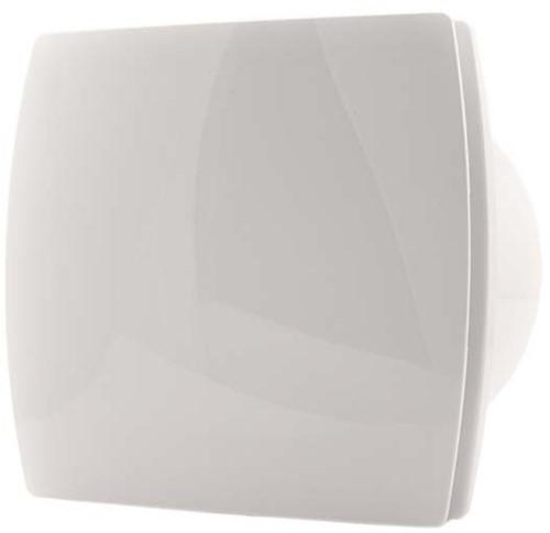 Badlüfter 150 mm Weiß mit Timer und Feuchtigkeitssensor - Design T150HT