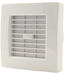 Badlüfter 100 mm Weiß mit Automatische Rückstauklappe, Timer und Feuchtigkeitssensor - Luxus X100ZHT