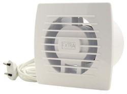 Badlüfter 100 mm Weiß mit Zugschnur und Stecker - Standard E100WP