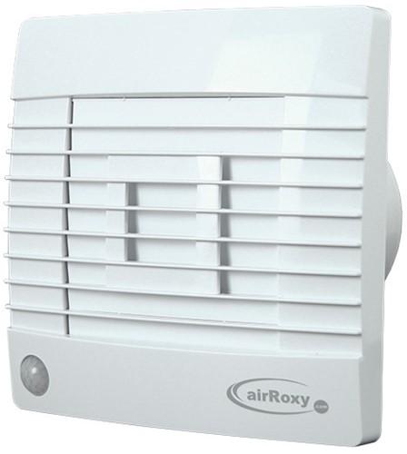 Badlüfter Ø100mm Weiß mit Automatischer Klappe Bewegungssensor und Timer - Prestige 100ZGMS