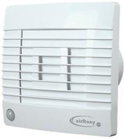 Badlüfter Ø120mm Weiß mit Automatischer Klappe Bewegungssensor und Timer - Prestige 120ZGMS