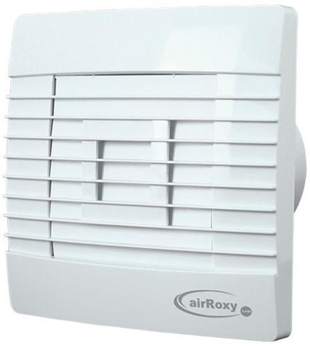 Badlüfter Ø150mm Weiß mit Automatischer Klappe Feuchtigkeitssensor und Timer - Prestige 150ZGHS