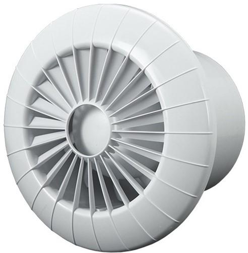 Badlüfter Ø100mm weiß rund - 100BB