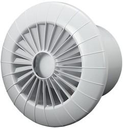 Badlüfter Ø100mm mit Feuchtigkeitssensor und Timer Weiß rund - 100BBHS