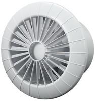 Badlüfter Ø120mm mit Timer Weiß rund - 120BBTS