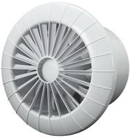 Badlüfter Ø120mm mit Feuchtigkeitssensor und Timer Weiß rund - 120BBHS