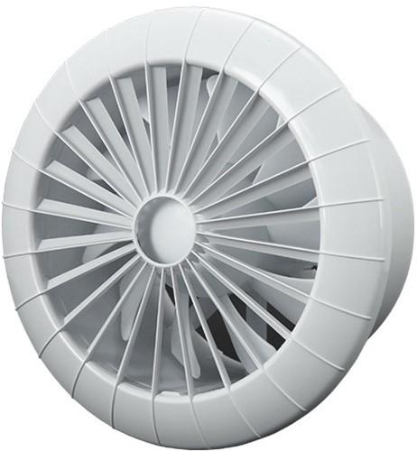 Badlüfter Ø150mm mit Timer Weiß rund - 150BBTS