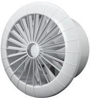 Badlüfter Ø150mm mit Feuchtigkeitssensor und Timer Weiß rund - 150BBHS