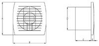 Badlüfter 120 mm Weiß mit Timer - Standard E120T-2