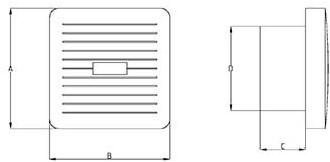 Badlüfter 100 mm Weiß mit Timer - Luxus X100T-2
