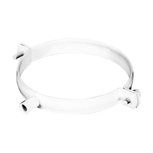 Weißer Bügel für Rohrdurchmesser 125 mm Metall - RAL 9010