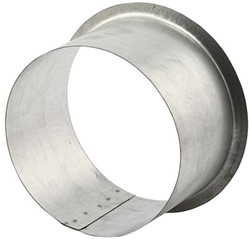 Anschluss für runde Rohre und Ventile Ø 125 mm H=150mm