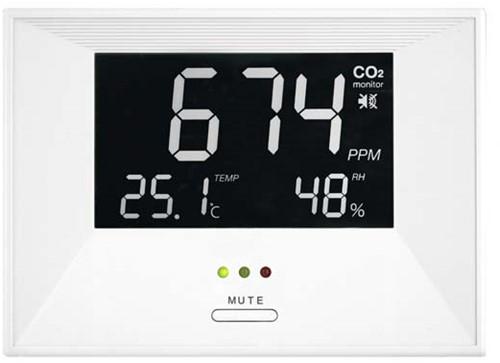 CO2 Messgerät mit Temperatur- und Feuchtigkeitsanzeige