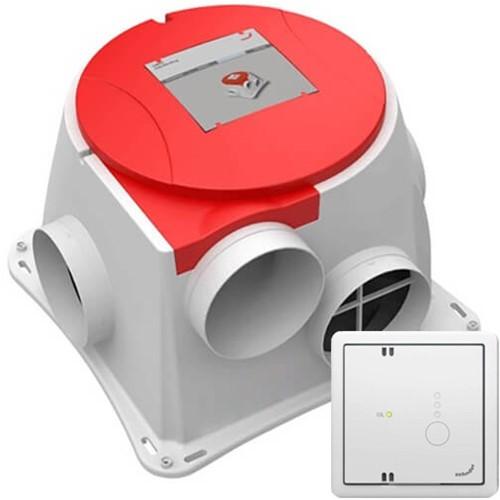 Zehnder Comfofan CO2 Basis Fraggesteuerte Wohnraumablüftung (inkl. RF Funkbedienung und CO2 Sensor)