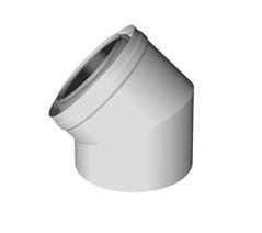 Konzentrisches Luft-Abgassystem PPH-PPH Bogen 45°