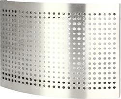 Edelstahl- Zuluftventil Ø 125 mm mit perforierter Haube für Wandmontage - DTQAY125Y