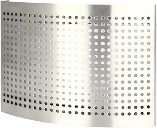 Edelstahl Zuluftventil Ø 100 mm mit perforierter Haube für Wandmontage - DTQAY100Y