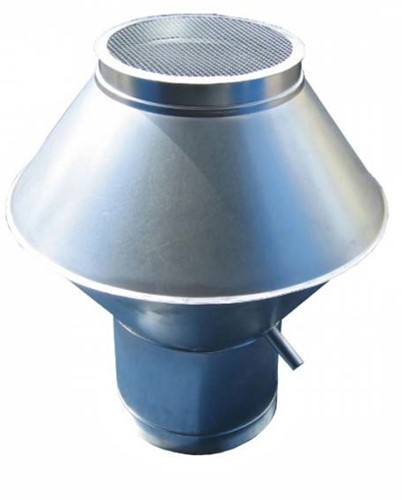 Deflektorhaube Ø100mm Sendzimir verzinkt