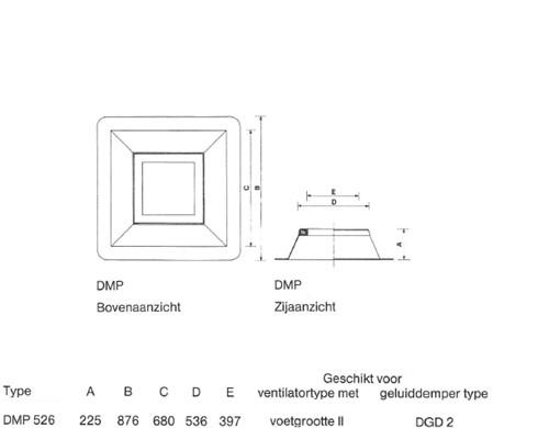 Dachdurchführung Itho CAS 2 DMP 526 RAL 9010-2