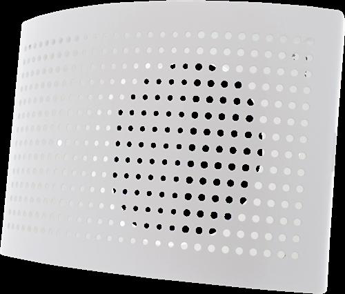 Lüftungseinlassventil Ø 100 mm mit perforierter Abdeckung für Wandmontage WEISS - DTQA100