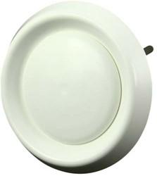 Tellerventil Kunststoff rund Ø 125 mm Weiß mit Federklammern (DAV125)