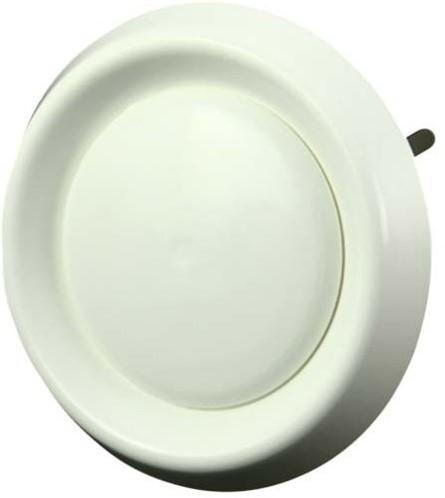 tellerventil Kunststoff rund Ø150mm Weiß mit Federklammern (DAV150)