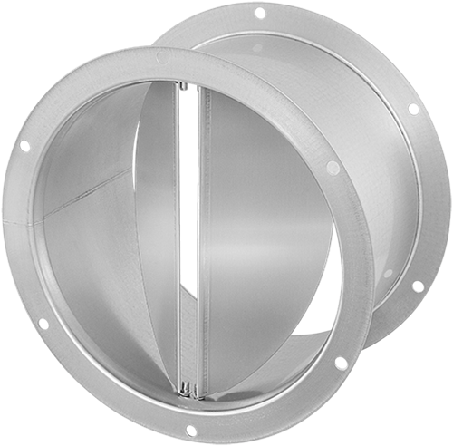 Ruck® Verschlußklappe selbsttätig, verzinktes Stahlblech Ø 180 mm (DVK 180 10)