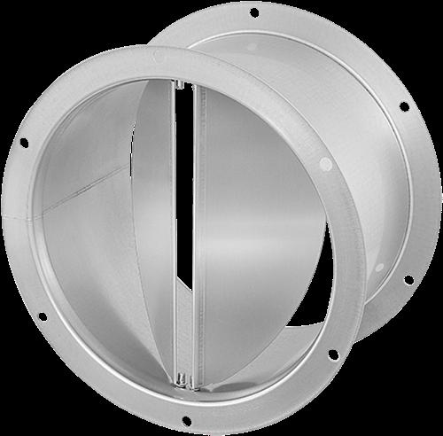 Ruck® Verschlußklappe selbsttätig, verzinktes Stahlblech Ø 560 mm (DVK 560 10)