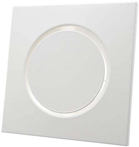 Belüftungsventil Auslass Metall quadratisch Ø100 mm weiß mit Reibungsfedern - DVSQ100