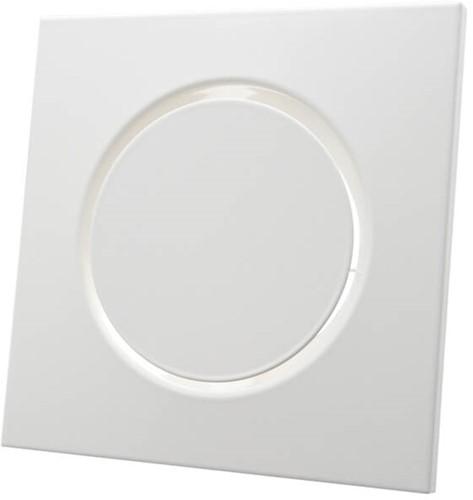 Belüftungsventil Zulauf Metall quadratisch Ø100 mm weiß mit Reibungsfedern - DVSQ-P100