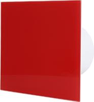 Badlüfter rot mit Glasfront