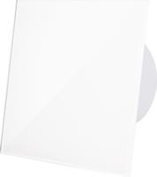 Badlüfter Hochglanz-Weiß mit Glasfront