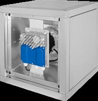 Gastronomie-Boxventilator mit energieeffizientem EC-Motor außerhalb des Luftstroms