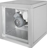 Gastronomie-Boxventilator mit frequenzgesteuertem Motor außerhalb des Luftstroms