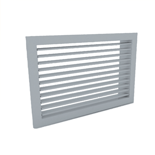 Wandgitter 300x150 Stahl mit Klemmfedern und einfachen verstellbaren Lamellen - Mischfarbe RAL 7001
