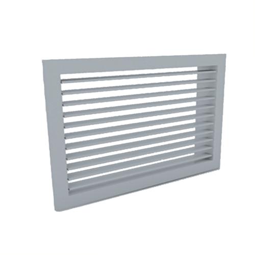 Wandgitter 400x100 Stahl mit Klemmfedern und einfachen verstellbaren Lamellen - Mischfarbe RAL 7001