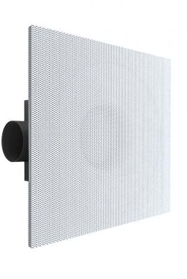 Deckenluftdurchlass 600x600 perforiert mit einstellbarer Zuluft - Seitenanschluss unisolierter Anschlusskasten 125 mm