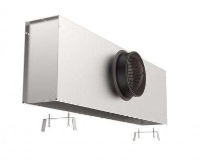 Anschlusskasten isoliert für Schlitzdurchlass mit 1 einstellbarem Schlitz von 300 mm - Ø125