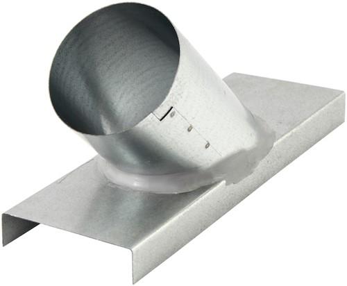Abzweigung 45° für Flachkanal nach Rohr Ø 80 mm