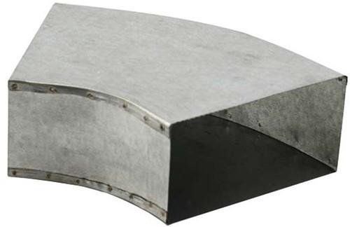 Bogen für Flachkanal 45° 165x80 Horizontal