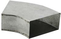Bogen für Flachkanal 45° 220x80 Horizontal
