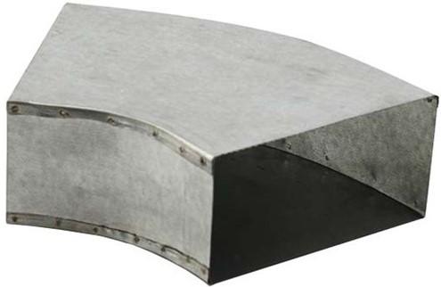 Bogen für Flachkanal 45° 300x80 Horizontal