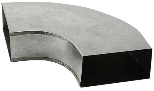 Bogen für Flachkanal 90° 300x80 Horizontal
