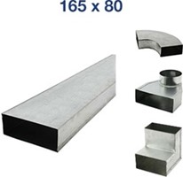 Flachkanale und Formteile 165x80