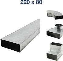 Flachkanale und Formteile 220x80