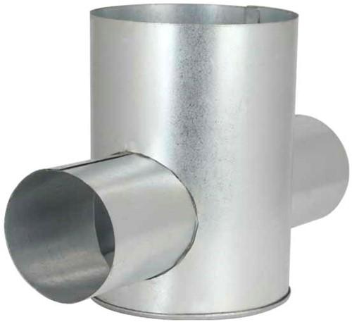 Ventilanschluss Ø 125 mm nach Ø 80 mm doppelt