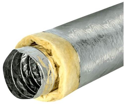 Isodec Lüftungsschlauch 127mm thermisch isoliert (10 Meter)