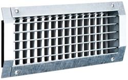 Kanalgitter 525x125 für Wickelfalzrohre mit doppelt beweglichen Lamellen