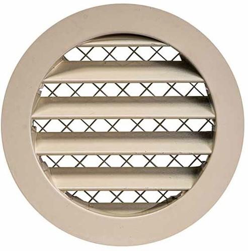Gitter aus Aluminiumlegierung Ø125 beige - MRA125Y